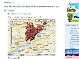 Philly Spring Clean Up Map
